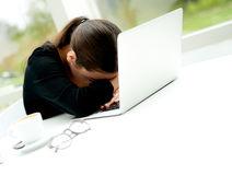 Despondent-businesswoman